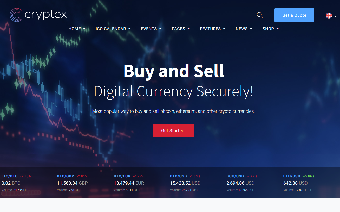 Cryptex - Cryptocurrency HTML Template