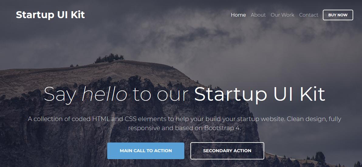 Startup UI Kit