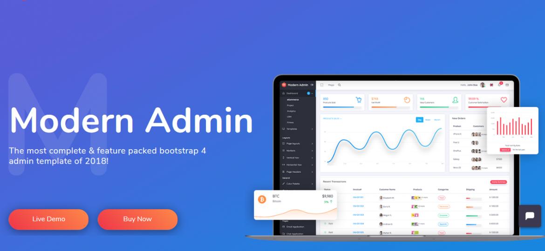 5 Modern Admin Clean Bootstrap 4 Dashboard HTML Template