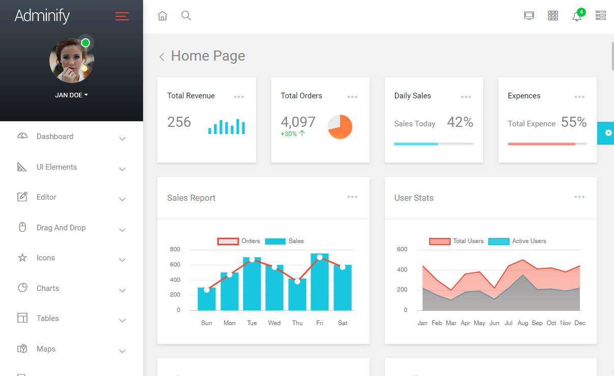 Adminify admin template