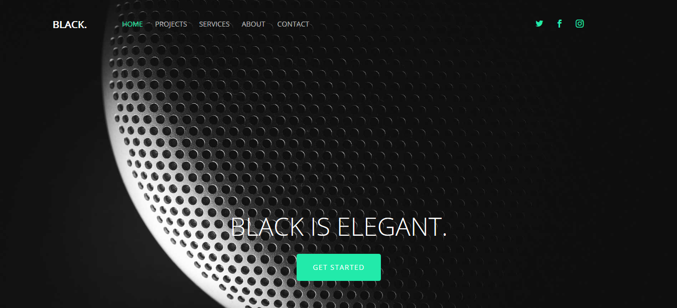 Black – Free HTML5 Multi-Purpose Website Template