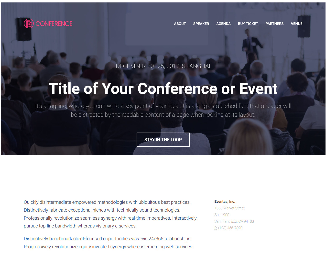 Conference – Responsive Bootstrap Event Management HTML5 Template Free Download