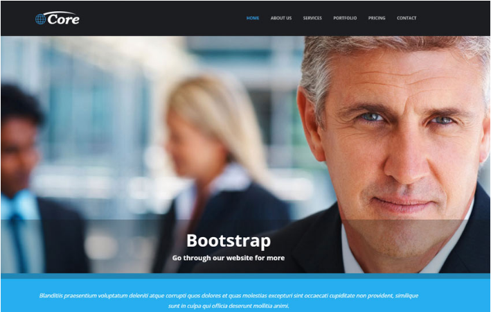 free professional bootstrap business templates