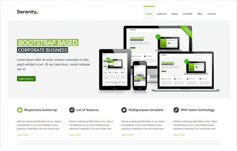 40+ Top Free & Premium Business Bootstrap Website Templates