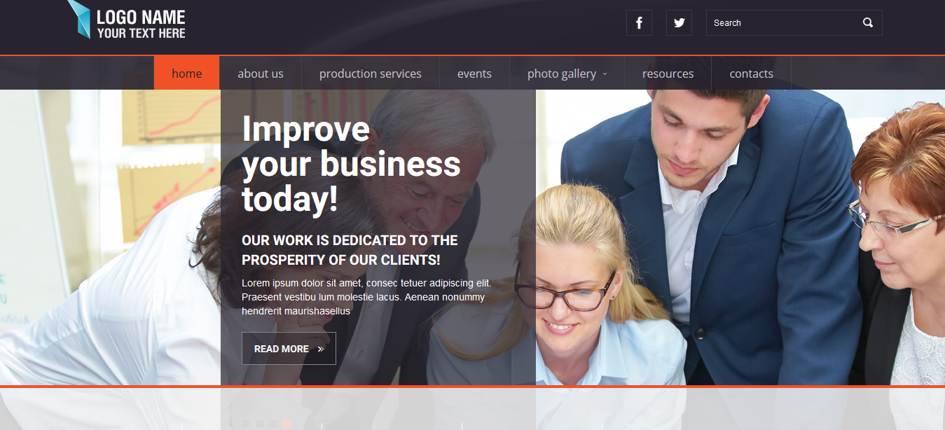 Corporate – free bootstrap template
