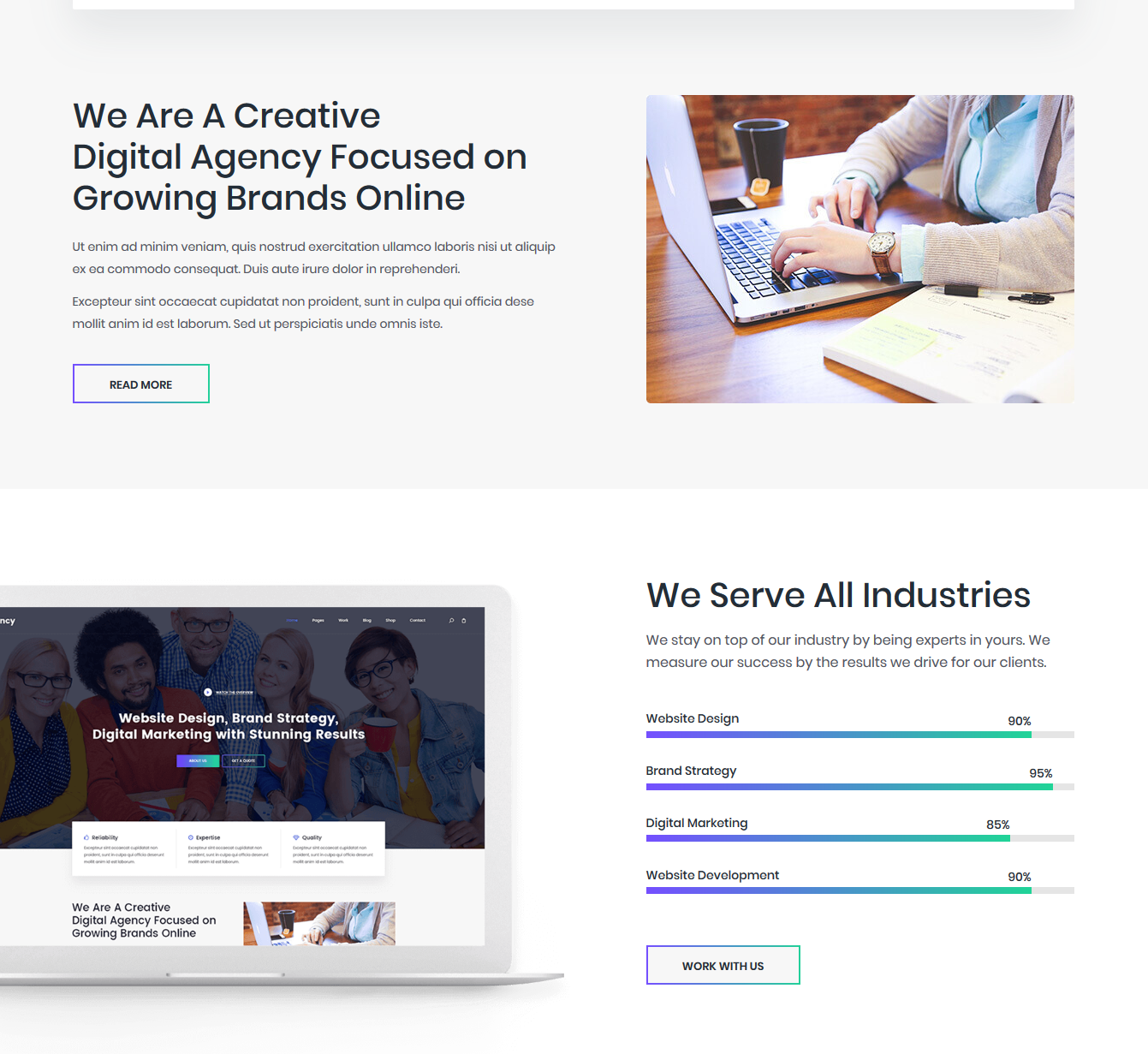 Fancy – Beautifully Crafted Free Bootstrap Corporate Template