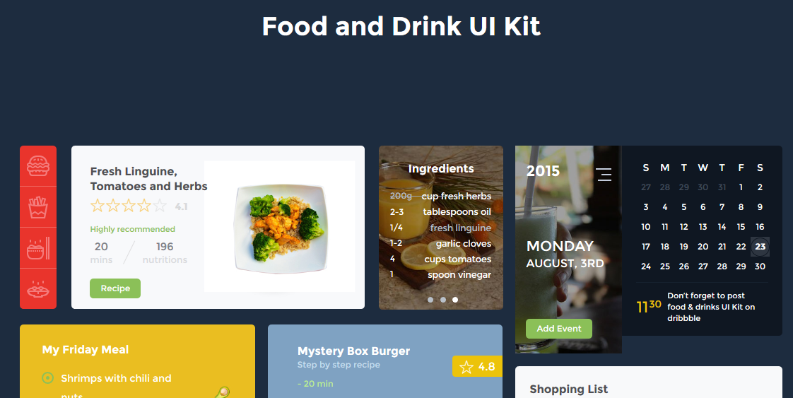 Food and Drink UI Kit