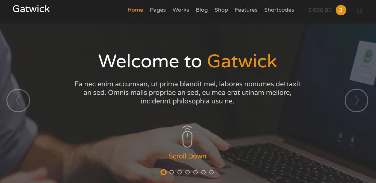Gatwick - Responsive Multipurpose Template