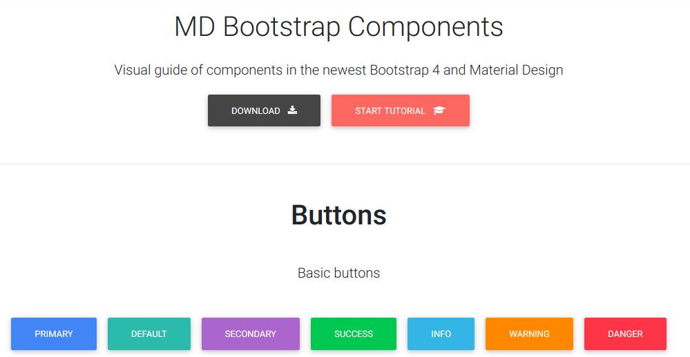 Material Design for Bootstrap 4 (Free & Premium)