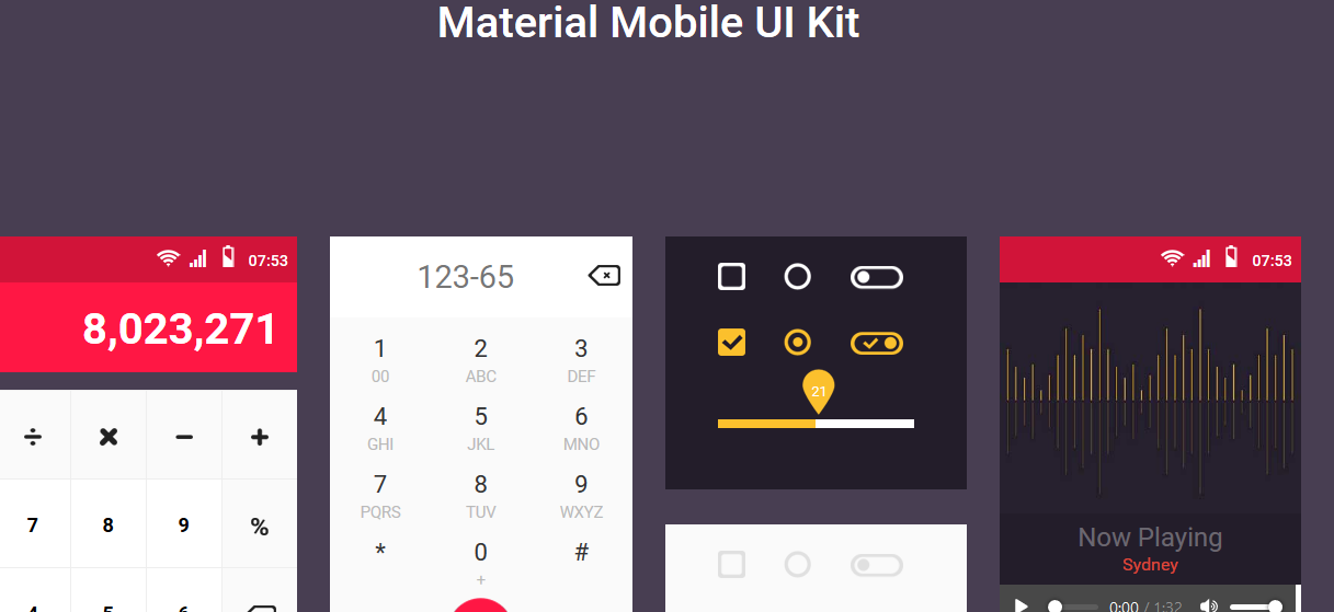 Material Mobile UI Kit