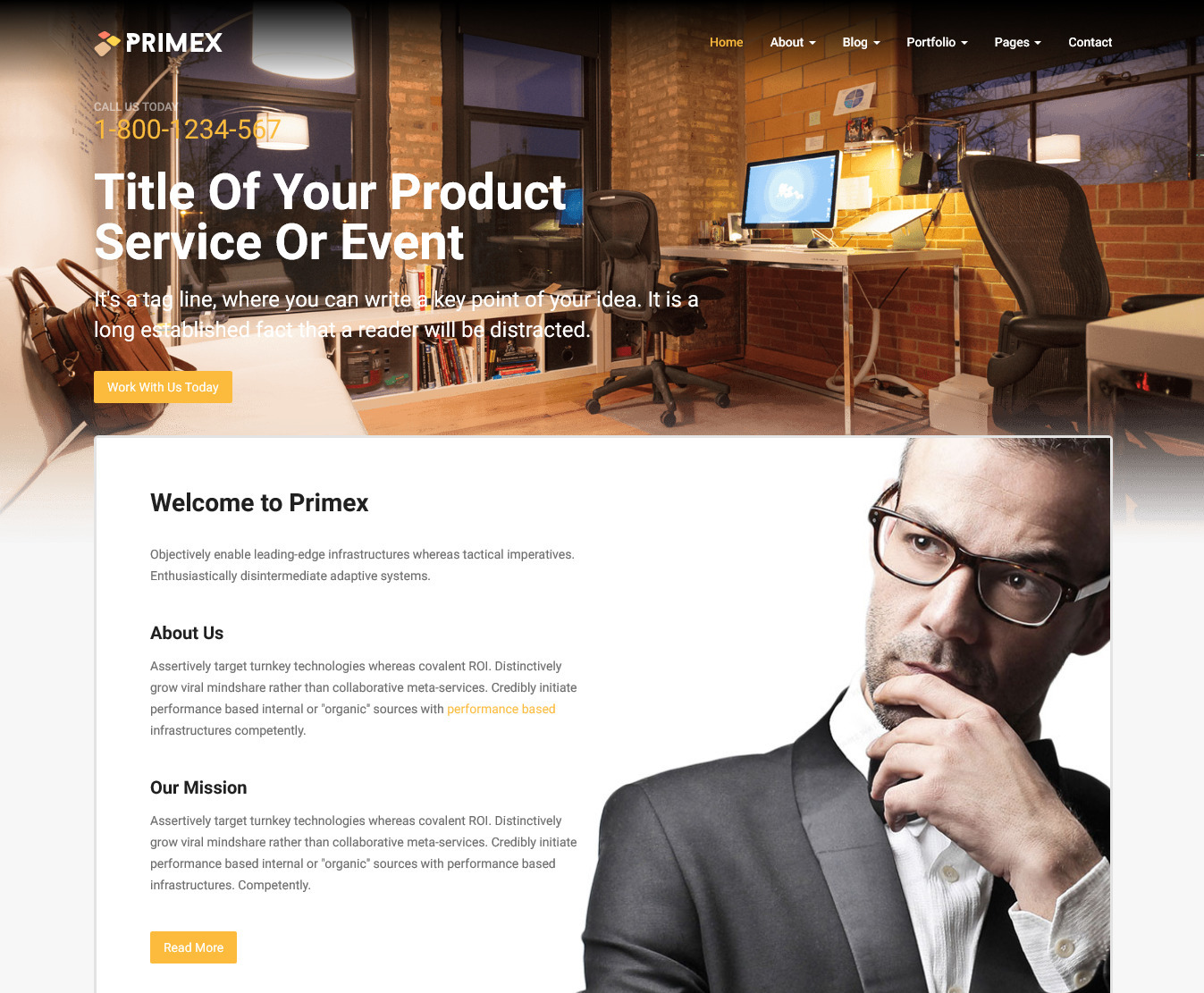 Primex – Best Responsive Business Website Template