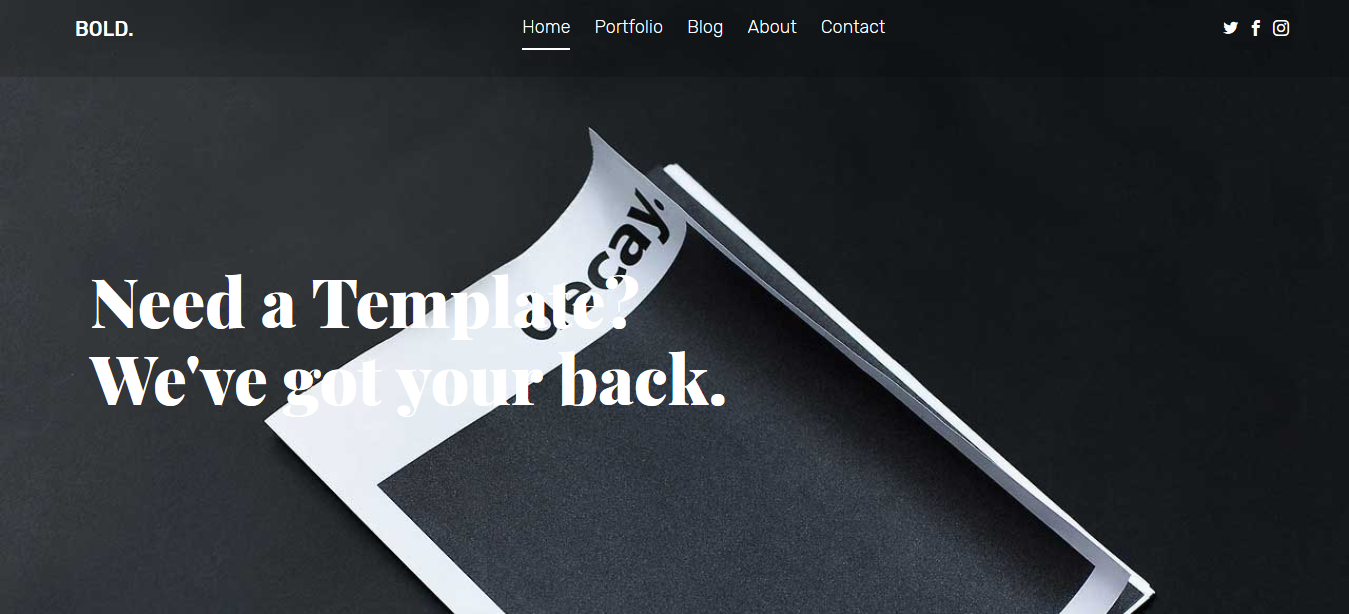 Bold- Free Responsive Bootstrap Multipurpose Template