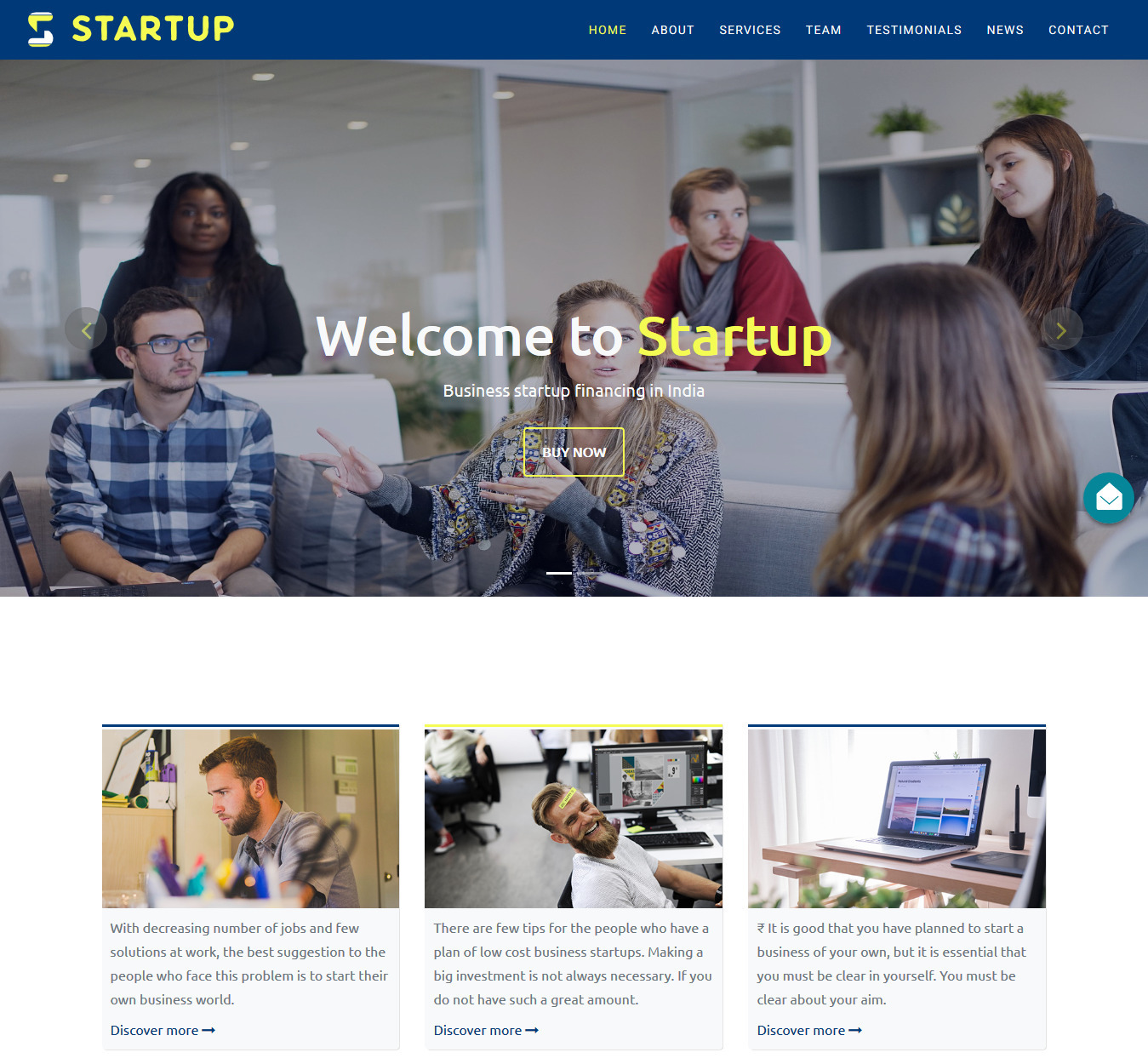 Startup – High-quality Free Bootstrap HTML5 Multipurpose Business Template