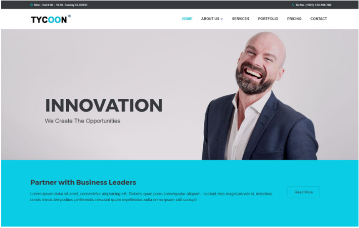 40 top free premium business bootstrap website templates tycoon corporate bootstrap html website template this is a clean and modern html5 based template for all kinds of corporate business agency consultation wajeb Images