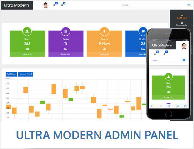 Ultra modern bootstrap admin template free download