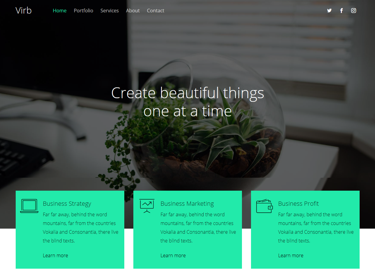 Virb – Free HTML5 Multi-Purpose Website Template