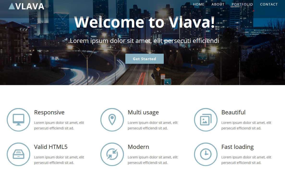 Valva - Free HTML5 One Page Agency Website Template