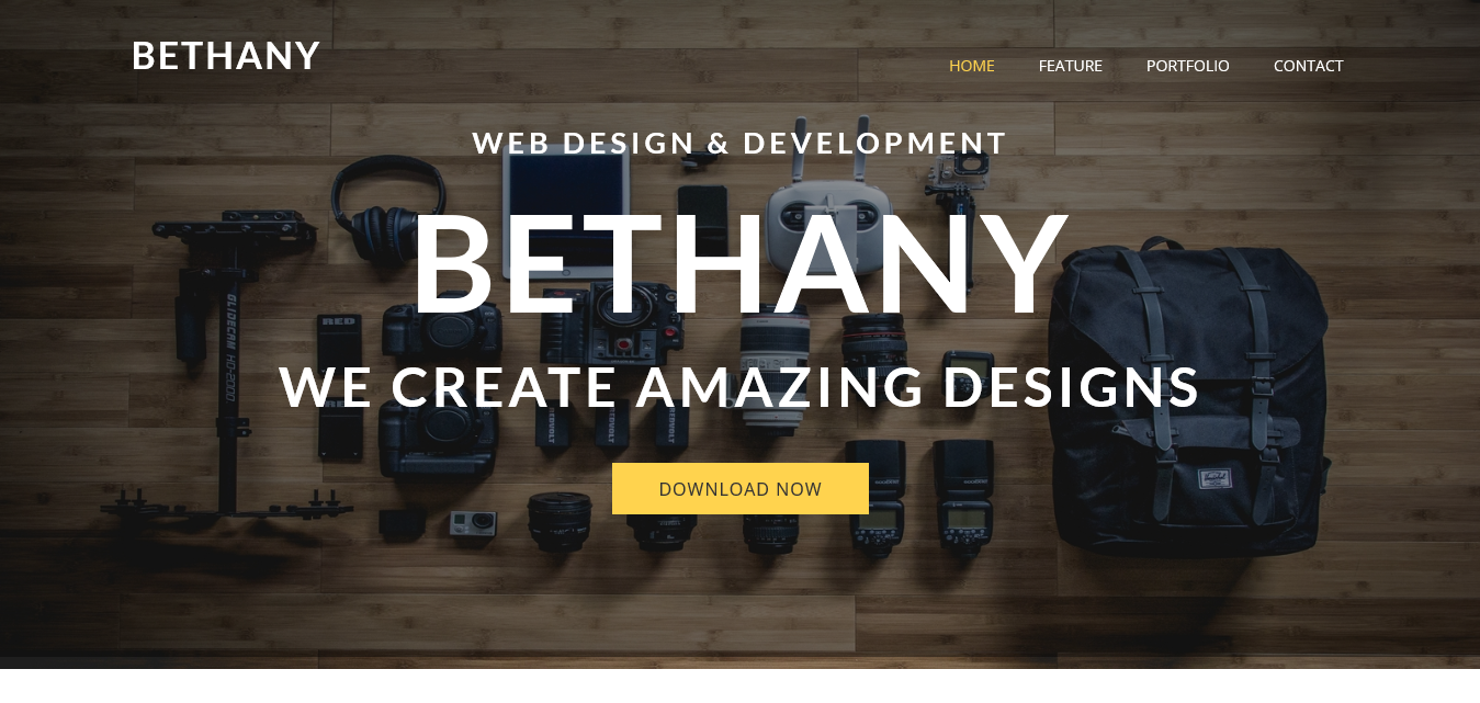 Bethany – Free One page Bootstrap Theme
