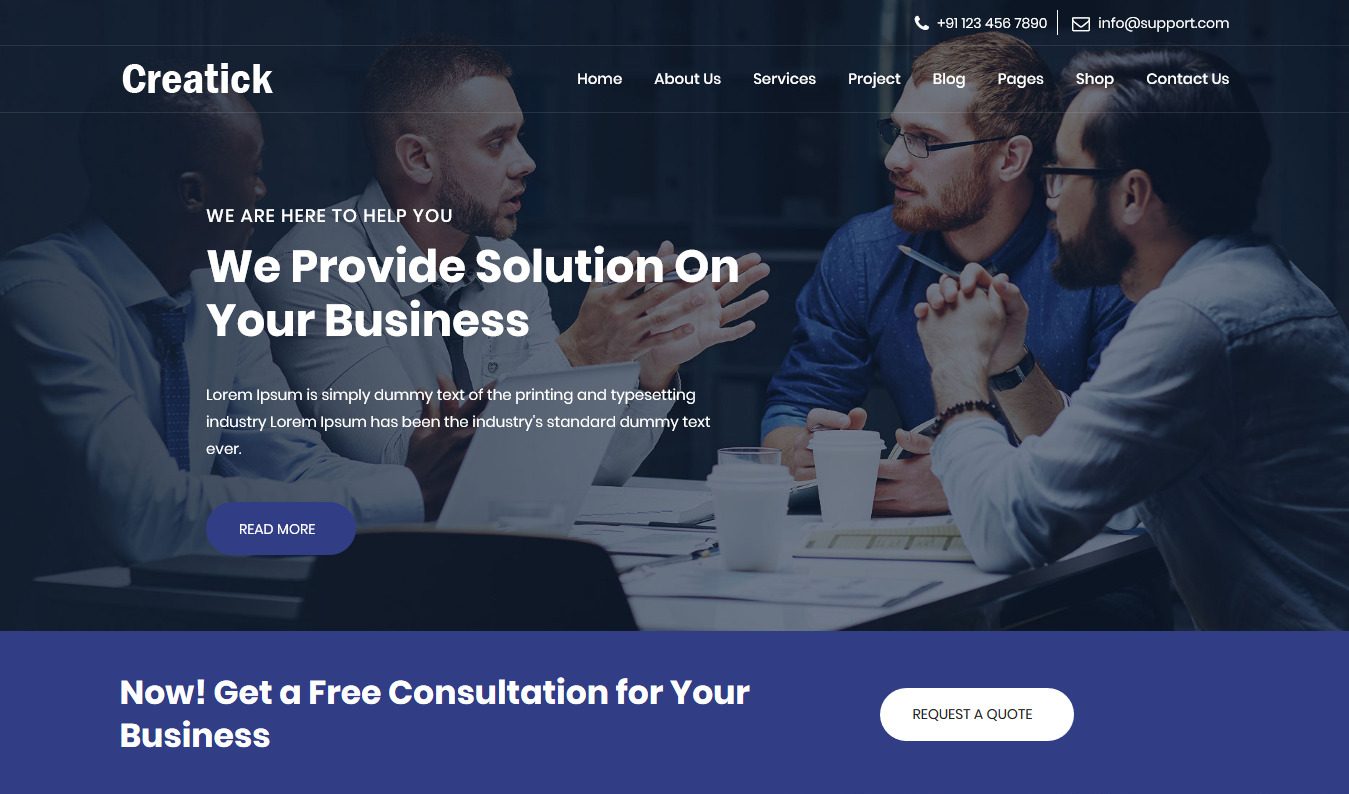 Creatick – Multipurpose Business Consulting and Professional Services Template