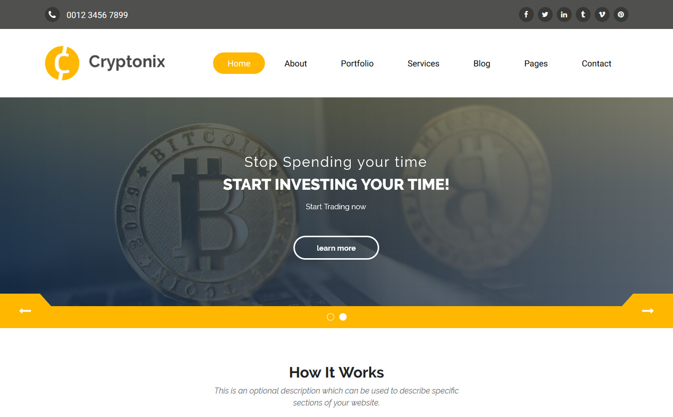 Cryptonix - Cryptocurrency & Mining HTML Template