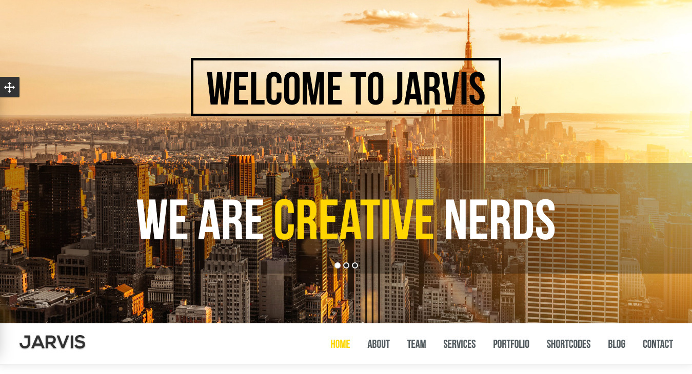 Jarvis - One Page Parallax Templatee