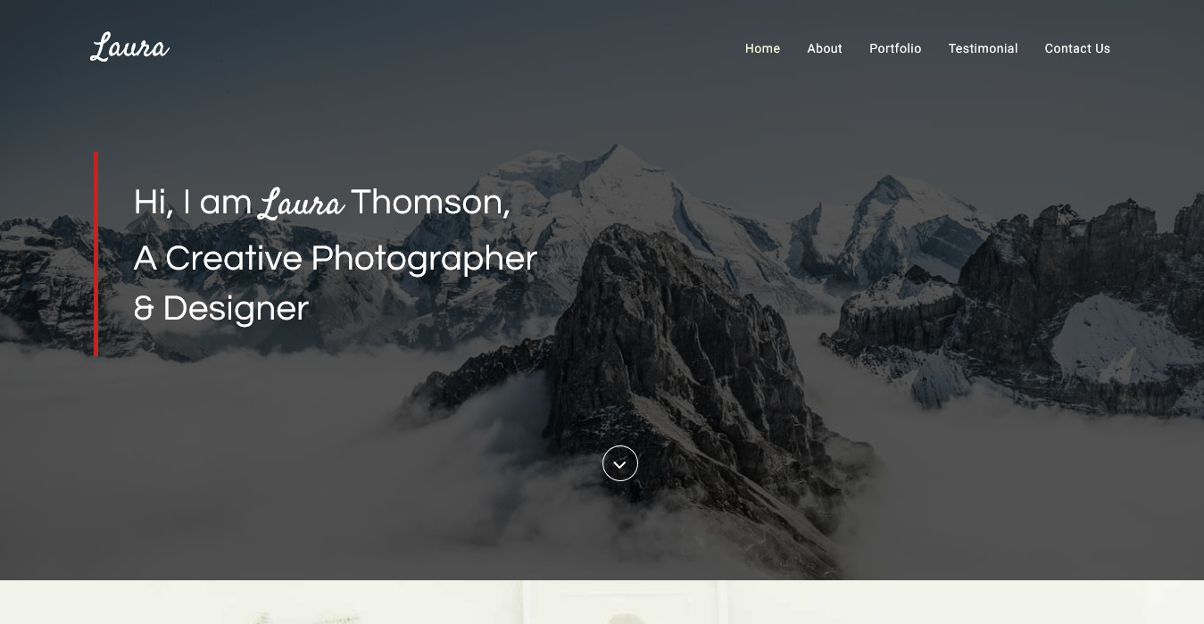 Laura Free Creative Bootstrap Theme