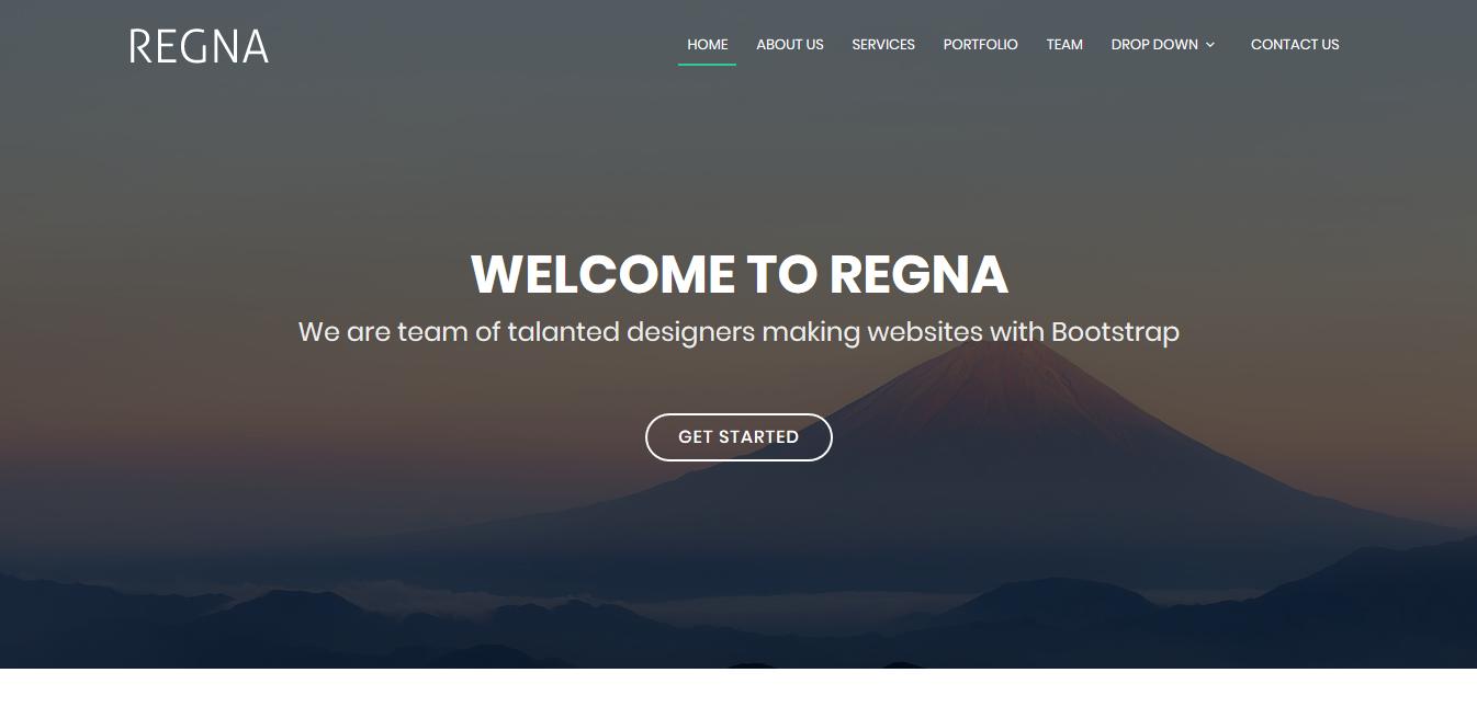 Regna Bootstrap Theme