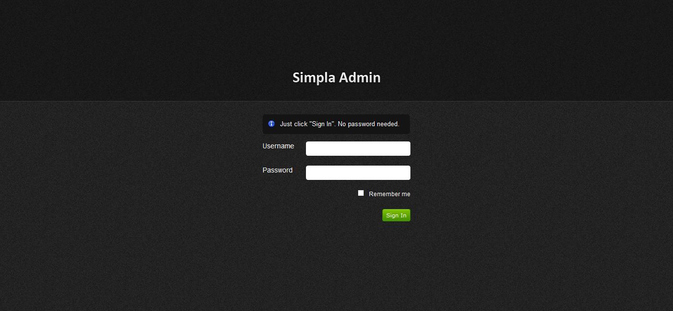 Simpla Admin