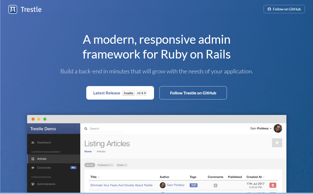 10+ Best Ruby on Rails Bootstrap Admin Template 2018