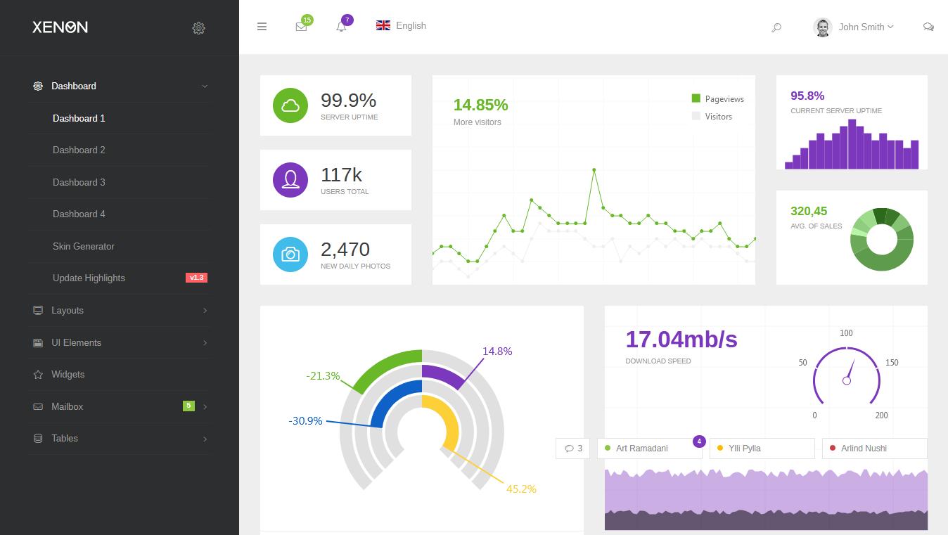 Xenon - Bootstrap Admin Theme with AngularJS