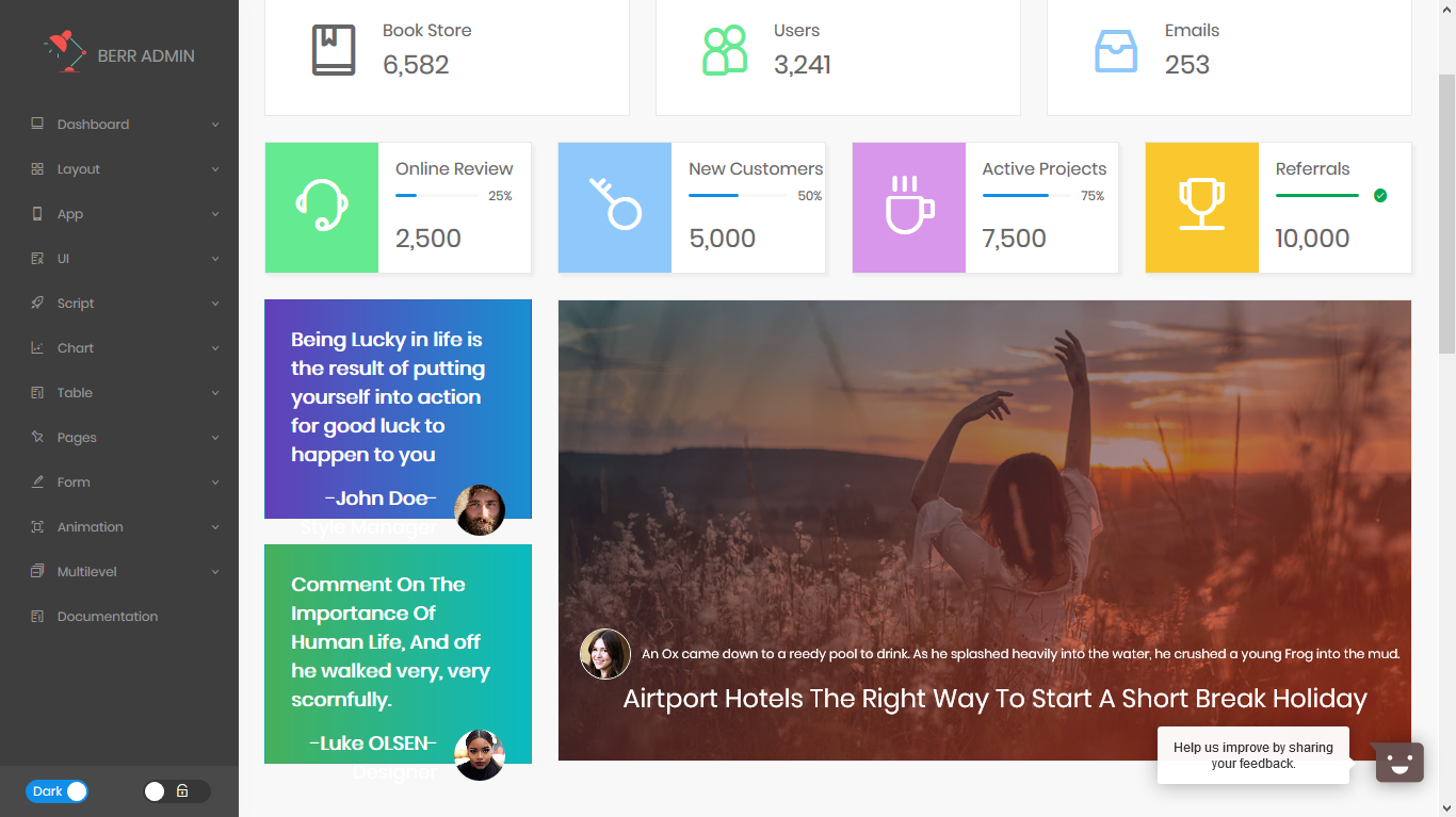 Berr Admin - React Admin Dashboard Template