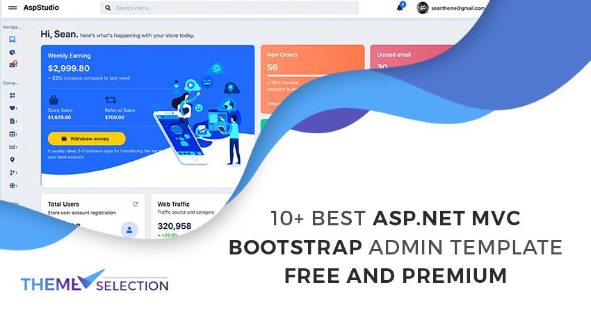 asp.net mvc bootstrap admin template free