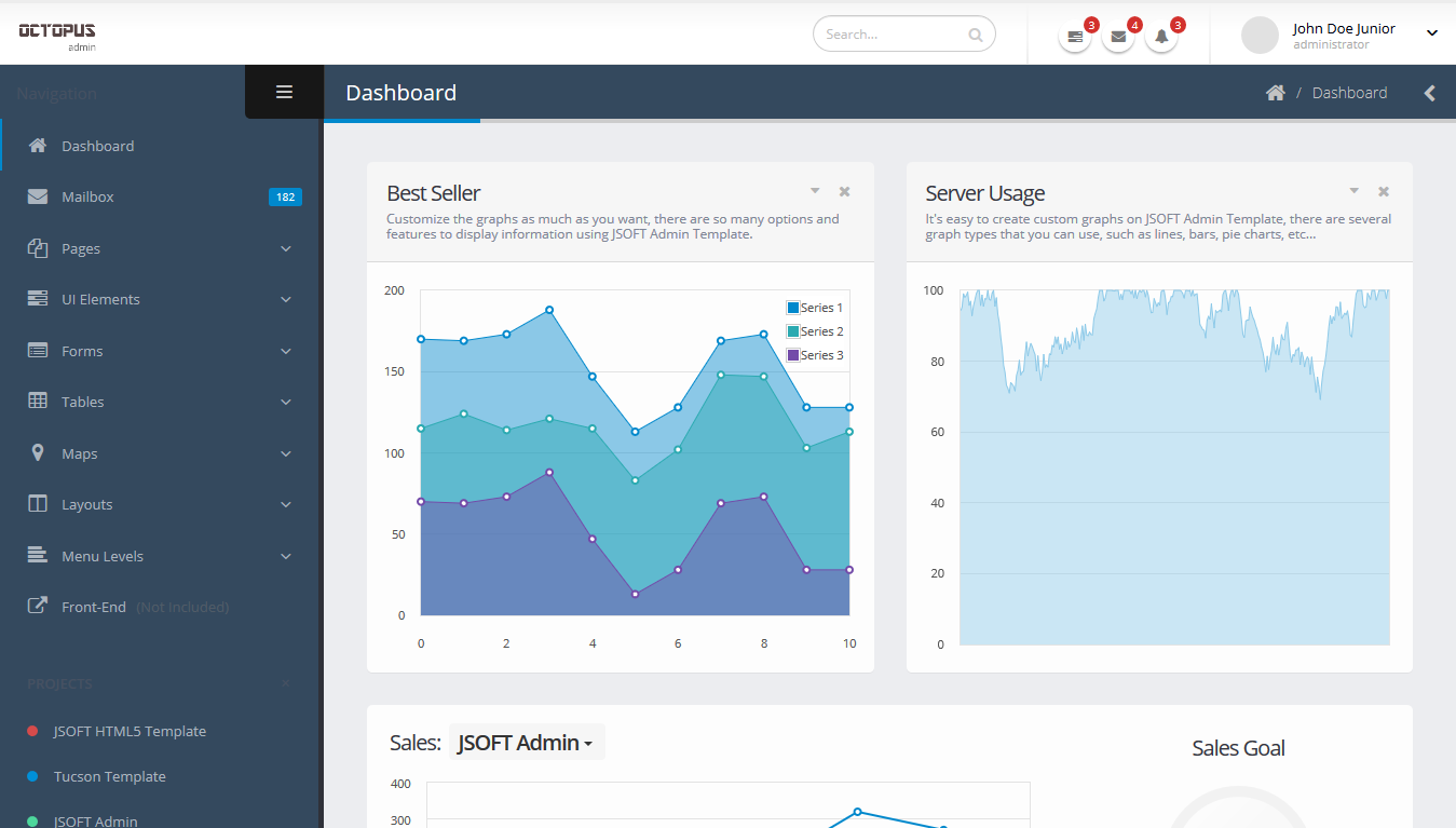 Octopus Bootstrap admin template github