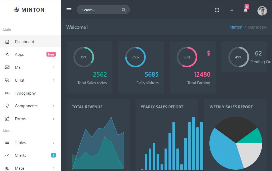 Minton – Responsive Web Application Kit