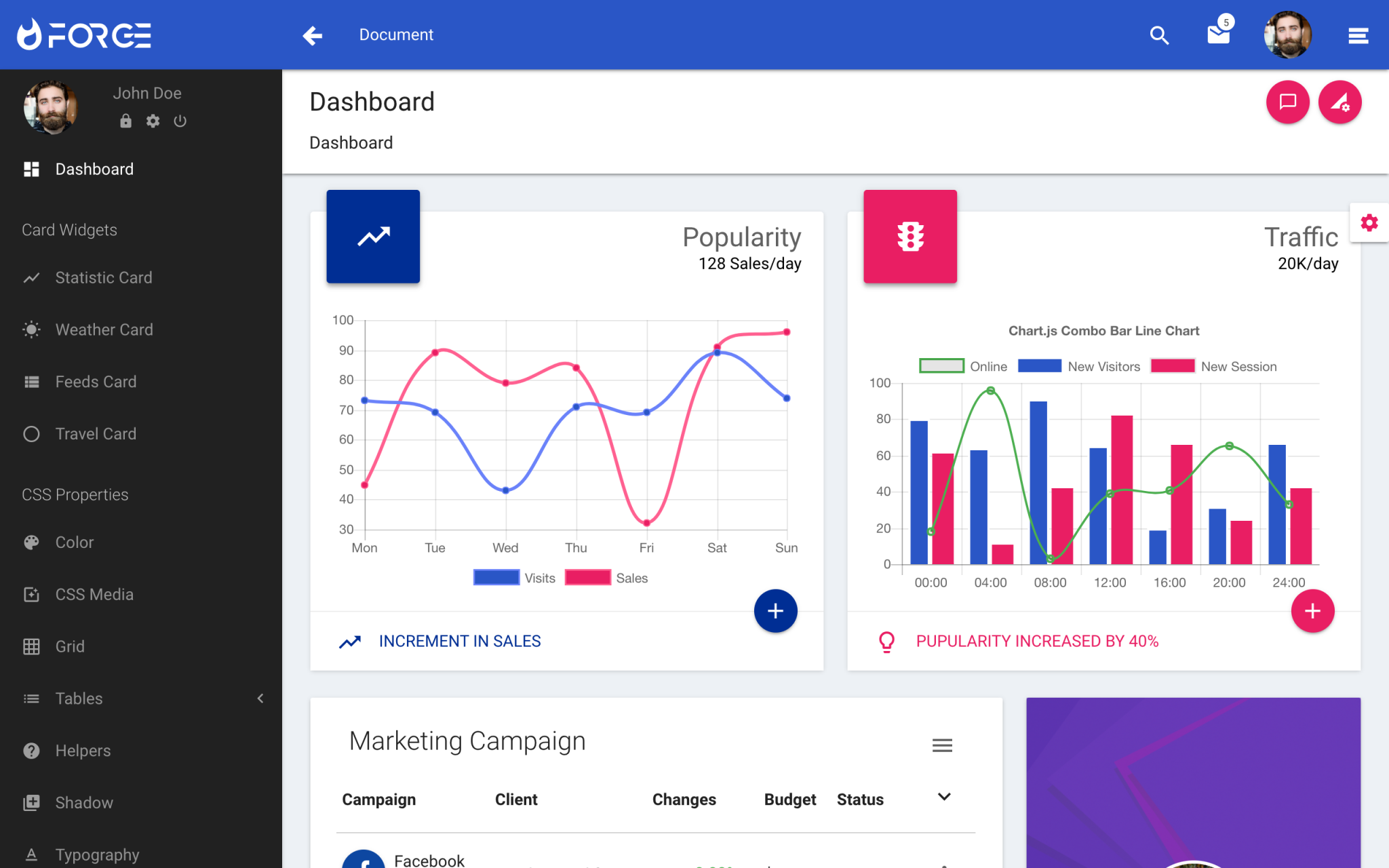 Forge Admin Template/