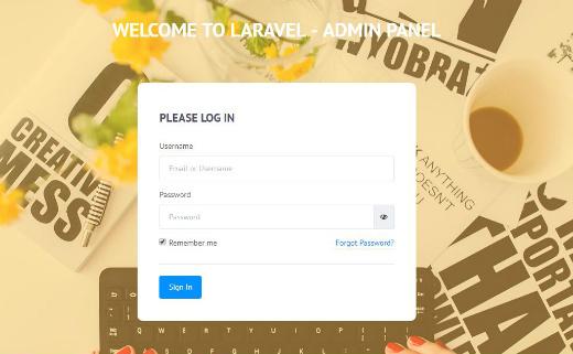 Ezeelive - Free Laravel Admin Template