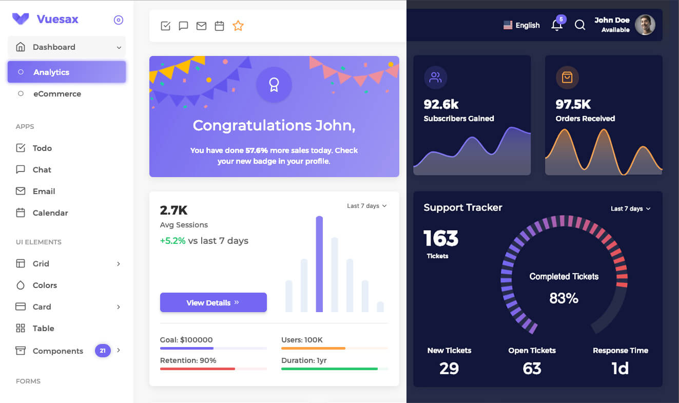 Vuexy Vuejs Html Laravel Admin Dashboard Template
