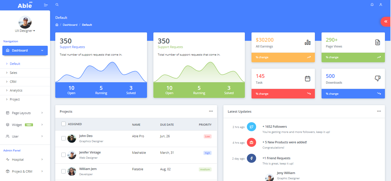 Able pro Admin Template