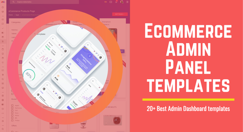 E-commerce Admin Panel Template free