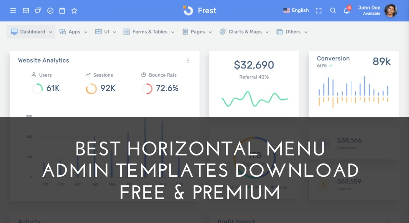 30+best-horizontal-menu-admin-templates-download
