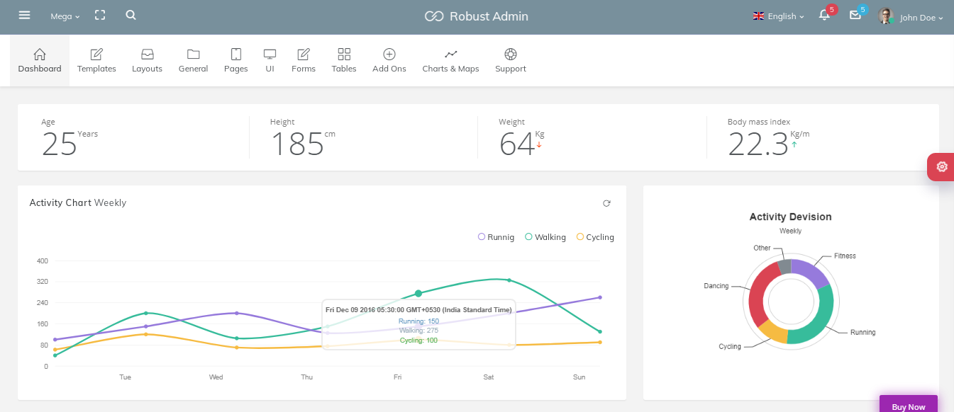 Robust Bootstrap Admin Template