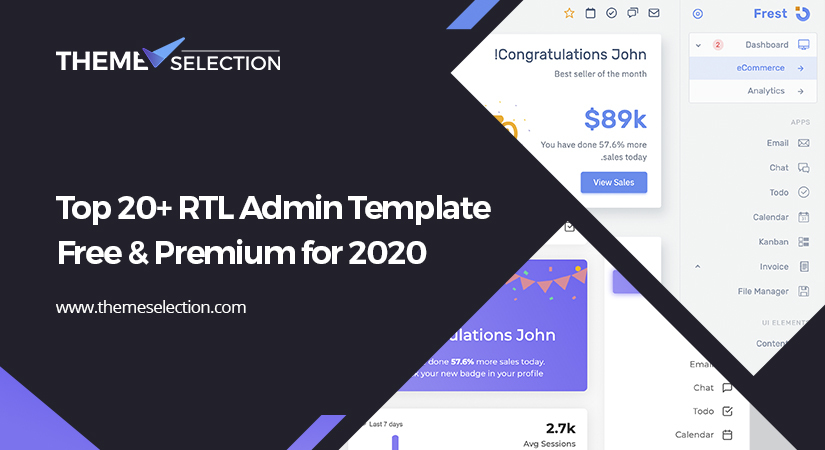 20+ RTL Admin Template Free And Premium for 2020