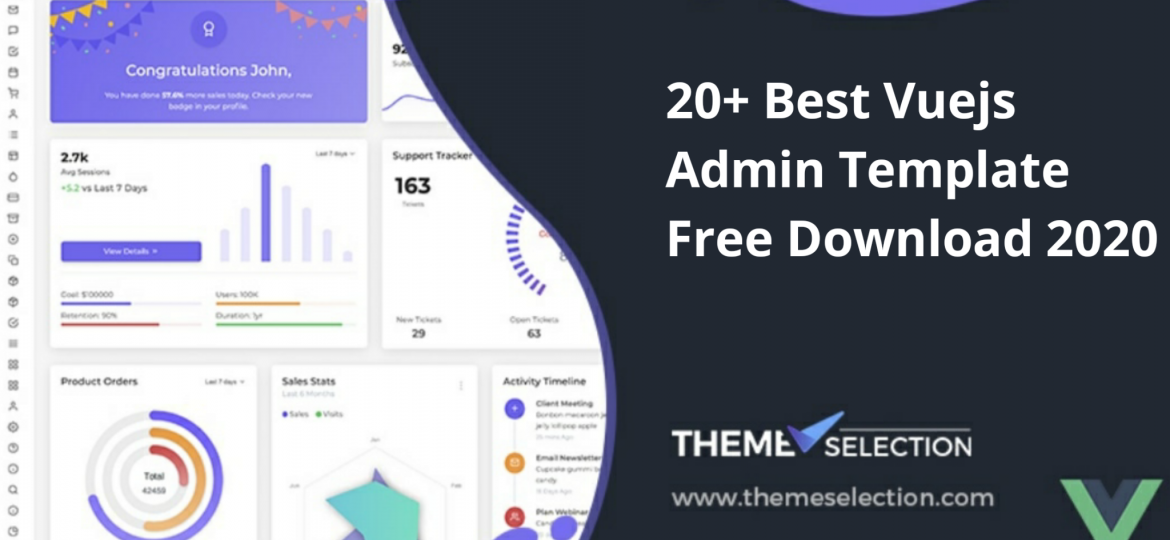 Vuejs Admin Template Free Download