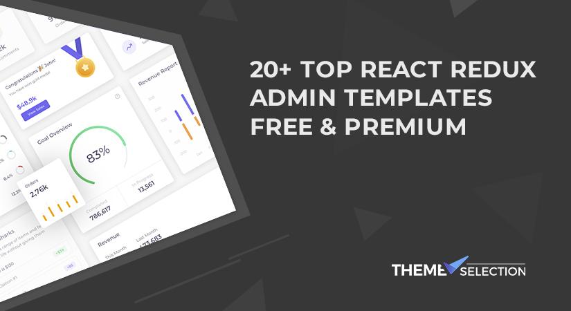 react redux admin template