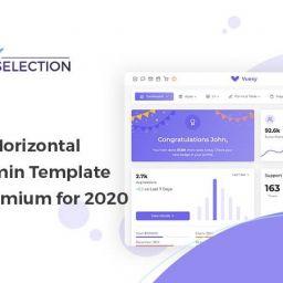horizontal menu admin template free