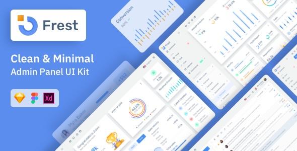 Frest Admin Dashboard & UI Kit Sketch Template