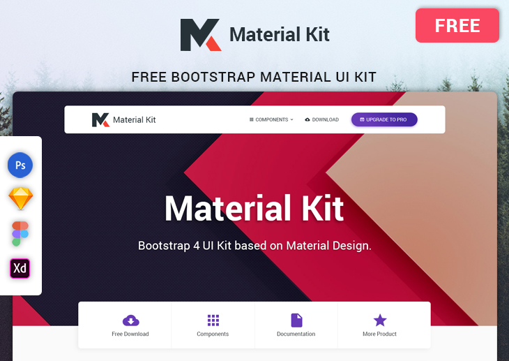 Material Free Bootstrap UI KIT