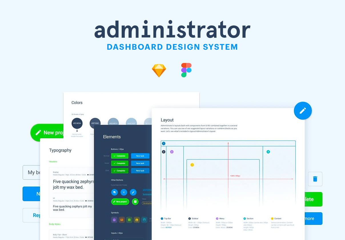 Administrator free sketch dashboard
