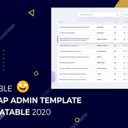 bootstrap admin template with datatable