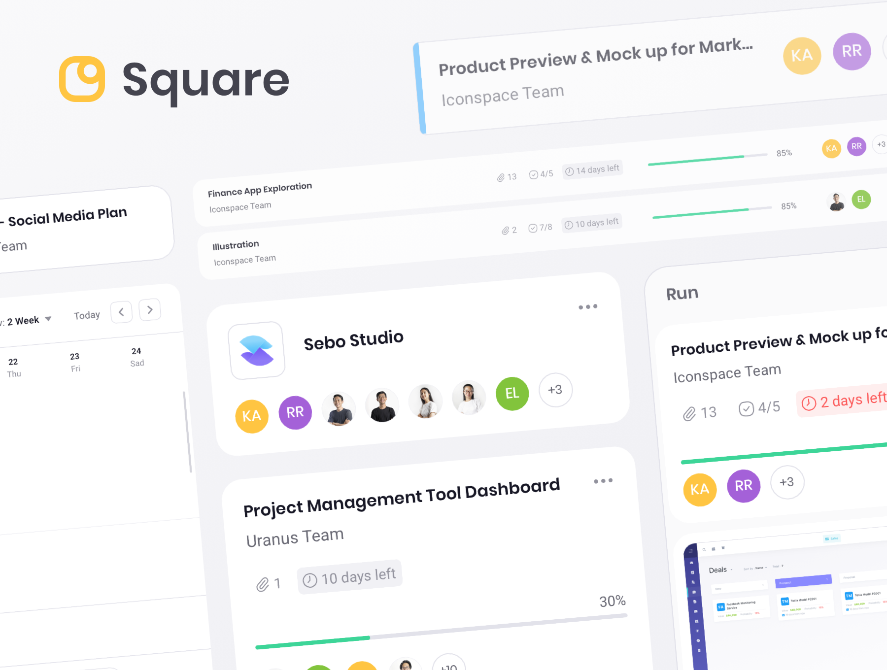 Square dashboard ui kit